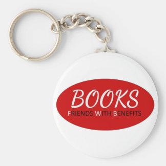 Libros - amigos con las ventajas llavero redondo tipo pin