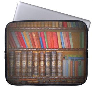 Libros antiguos funda portátil