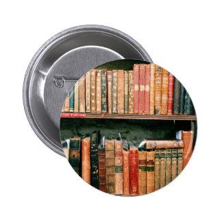 Libros antiguos pin redondo de 2 pulgadas