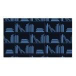 Libros azul marino en estante tarjetas de visita
