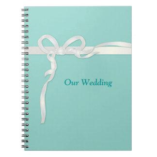 Libros azules del boda del huevo de los petirrojos libretas espirales