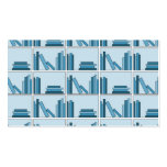 Libros azules en estante tarjeta de visita