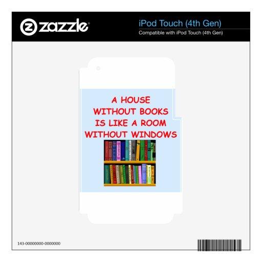 libros calcomanías para iPod touch 4G