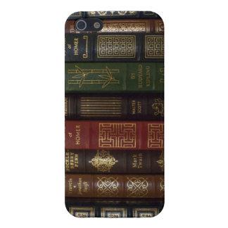 Libros clásicos encuadernados del cuero del vintag iPhone 5 cárcasa