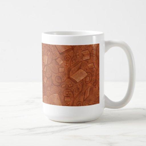 Libros (color 2) taza de café