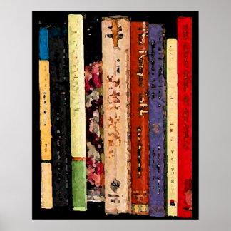 Libros coloridos póster