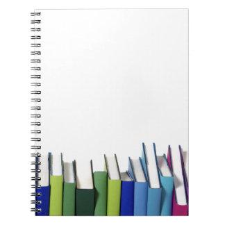Libros coloridos spiral notebook