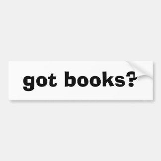 ¿libros conseguidos? etiqueta de parachoque