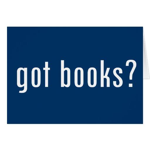 ¿libros conseguidos? tarjeta de felicitación