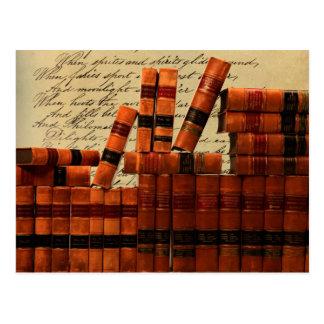 Libros de cuero antiguos postales