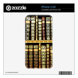Libros de cuero del siglo XVIII antiguos iPhone 4 Skin