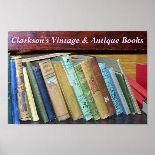 Libros de encargo de la antigüedad del vintage póster