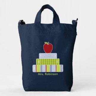 Libros de escuela y bolso del personalizado de bolsa de lona duck