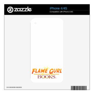 Libros de Gurl de la llama iPhone 4S Calcomanía