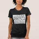 Libros de hadas del gato W Camiseta