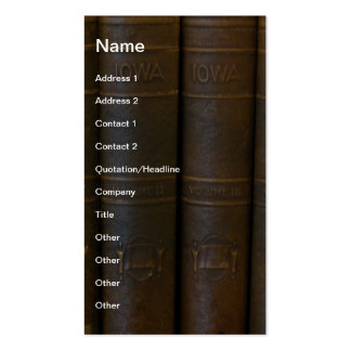 Libros de Iowa Tarjetas De Visita