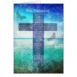 Libros de la biblia del nuevo testamento tarjeta