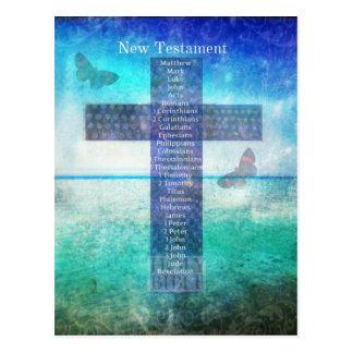 Libros de la biblia del nuevo testamento tarjetas postales