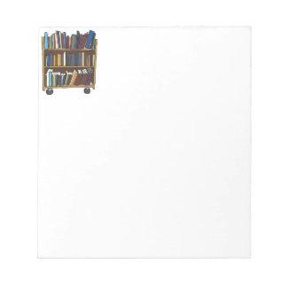 Libros de la biblioteca blocs de papel