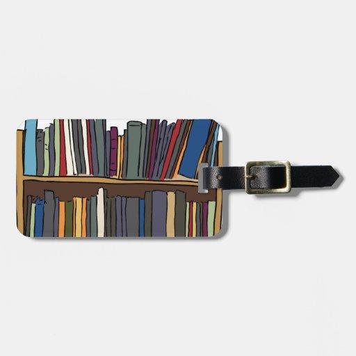 Libros de la biblioteca etiquetas bolsas