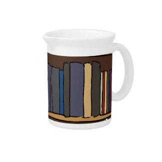 Libros de la biblioteca jarras de beber