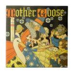 Libros de lectura de la mamá ganso del vintage a teja cerámica