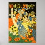 Libros de lectura de la mamá ganso del vintage a l posters