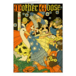 Libros de lectura de la mamá ganso del vintage a l tarjeton