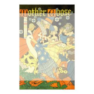 Libros de lectura de la mamá ganso del vintage a papelería personalizada