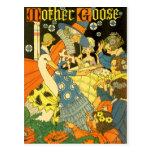 Libros de lectura de la mamá ganso del vintage a postal