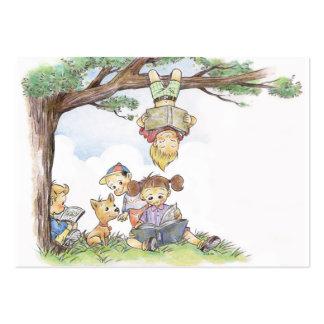 Libros de lectura de los niños tarjetas de visita