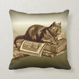Libros de lectura del gato del gatito del ratón de almohada