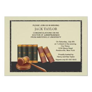 Libros de ley e invitación de la graduación del invitación 12,7 x 17,8 cm