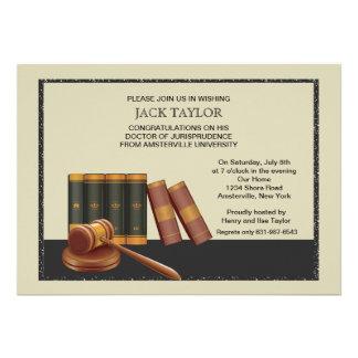 Libros de ley e invitación de la graduación del ma