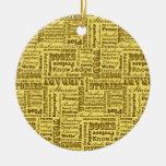 ¡Libros de los libros de los libros! Ornamento De Navidad