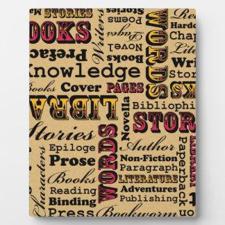 ¡Libros de los libros de los libros Placas De Madera