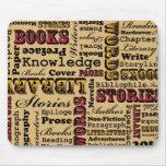 ¡Libros de los libros de los libros! Alfombrillas De Raton