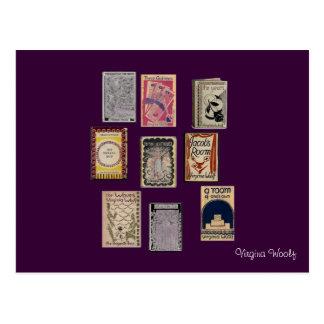 Libros de Virginia Woolf Tarjetas Postales