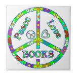 Libros del amor de la paz azulejos