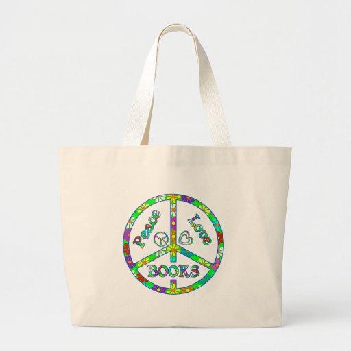 Libros del amor de la paz bolsas