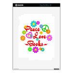 Libros del amor de la paz calcomanía para iPad 2