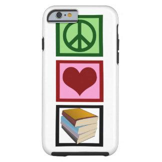 Libros del amor de la paz funda para iPhone 6 tough