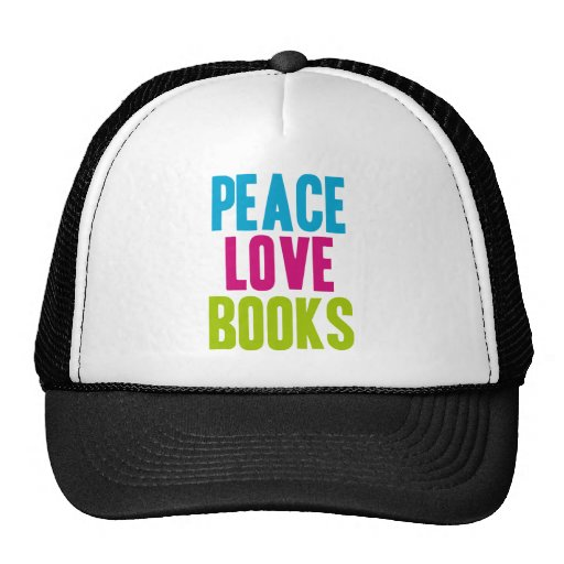 Libros del amor de la paz gorro de camionero