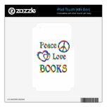 LIBROS del amor de la paz Calcomanías Para iPod Touch 4G