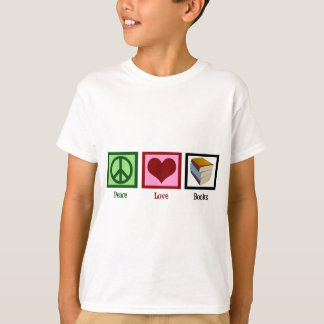 Libros del amor de la paz playeras