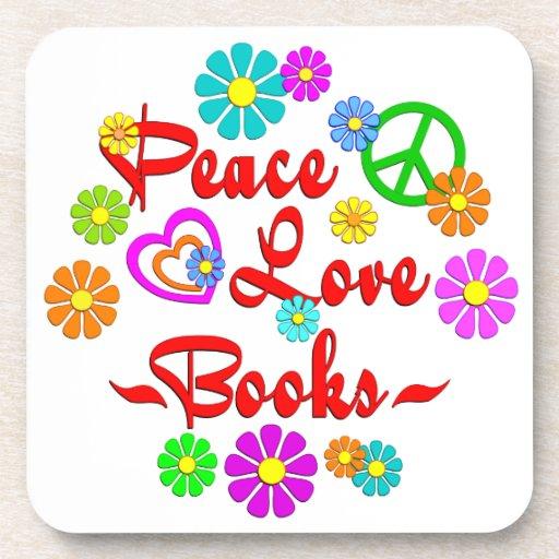 Libros del amor de la paz posavaso