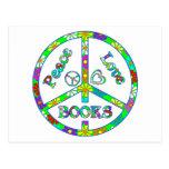 Libros del amor de la paz postal