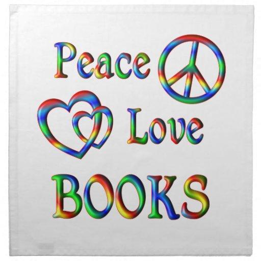 LIBROS del amor de la paz Servilletas