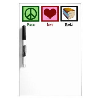 Libros del amor de la paz tableros blancos