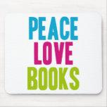 Libros del amor de la paz tapete de raton